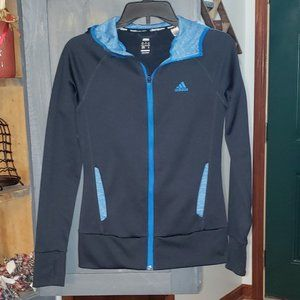 Women's Athletic Track Hooded Jacket by ADIDAS XS